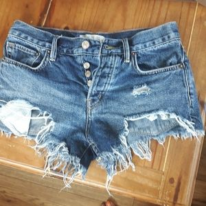 Free People High Cut Jean Shorts